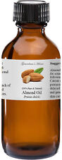 Almond (Sweet) Oil - 4 oz - 100% Pure and Natural - Free Shipping - US Seller