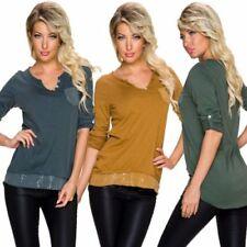 Camisas y tops de mujer de manga larga 100% algodón talla 36