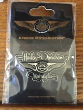 HARLEY-DAVIDSON 110th Anniversary Script Wings Jacket Vest PIN, New in Pkg!