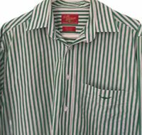 R M Williams Green White Stripe Regular Fit Shirt Size M Button Up Casual