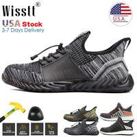 Men's Indestructible Safety Work Shoes Steel Toe Cap Net Sport Sneakers