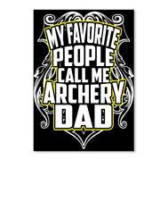 Archery Dad Funny T Sticker - Portrait