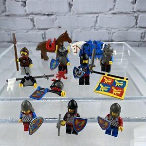 Vintage LEGO Castle Knights Mini Figures Horses Weapons Lot Minifigures LOT B