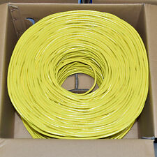 CAT6 1000FT UTP Cable Solid 23AWG 550MHz Network Ethernet Bulk Wire LAN YELLOW