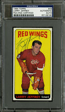 1964-65 Topps Hockey #49 Larry Jeffrey Autographed Signed PSA/DNA AUTHENTIC