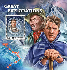 Sierra Leone 2016 MNH Great Explorations Edmund Hillary Shackleton 1v S/S Stamps