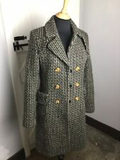 Comptoir Des Cotonniers Tweed Wool Coat. Size 10UK. VG Condition