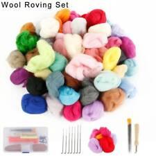 50 Color Wool Felt Needles Tool Set Needle Felting Mat Starter Diy Kit Girl Gift