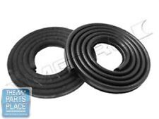 1962-66 Mopar A & B Body Front Door Weatherstrip Seal - Pair - LM23-JBLK