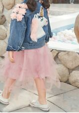 Unicorn Denim Jacket Toddler Little Girls Sizes 4,6,8 SO CUTE