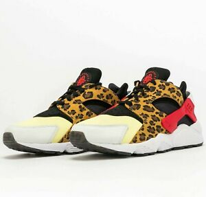 Nike Air Huarache SNKRS Day DM9092-700 Animal Print Cheetah Shoes Sneakers