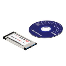 USB 3.0 Dual 2 Port Adapter Express Card Expresscard to 34mm 64mm Slot Laptop SZ
