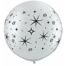 Party Supplies Birthday Hollywood Oscars Sparkles & Swirls Silver 90 cm  Balloon