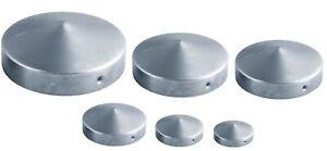 Pfostenkappe Rund Rundpfosten für Pfosten aus Stahl Ø42 - Ø 100 Verzinkt