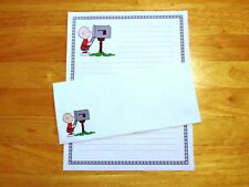 Charlie Brown Stationery Writing Set With Envelopes - Lined Stationary