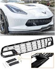 For 14-19 Corvette C7 No Camera Z06 Factory Carbon Flash Front Bumper Grille