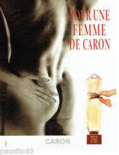 PUBLICITE ADVERTISING  026  2002  Caron   pafum pour une FEMME