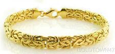 14K Yellow Gold Shiny Byzantine Fancy Bracelet