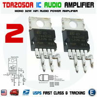 2pcs TDA2050A TDA2050 32W Hi-Fi Audio Power Amplifier IC USA seller