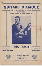 GUITARE D AMOUR   Tango international     TINO ROSSI      partition musicale