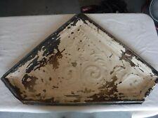 "Antique Decorative Embossed  Tin , 22"" x 34"" TRIANGULAR,Old Church Wilmington"