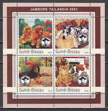 Guinea Bissau, Mi cat. 2037-2040 A. Scout Jamboree sheet with Dogs.