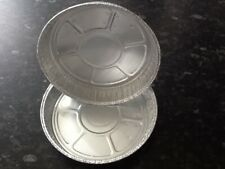"20 x 6"" Round Aluminium Tin Foil Dish Baking Pie Quiche Tart Tray NO HOLES"