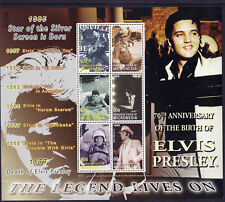 Elvis Presley The Legend Lives On (1957-1969) UMM Stamp Sheet from Micronesia