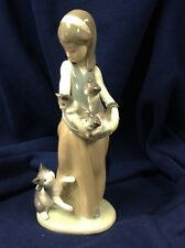 """lladro figurine """"Following Her Cats"""" #1309"""