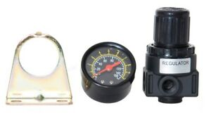 "NEW Air Compressor Compressed Air Pressure Regulator W/ gauge, 1/4"" NPT Ports"