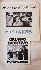 "Gruppo Sportivo ""Mistakes"" LP 1979 Bonus EP included Near Mint"