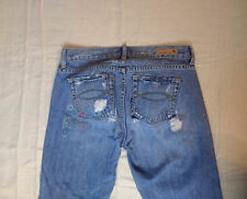 Abercrombie & Fitch A&F Jeans Denim Distressed Blue Floral 4 30x31