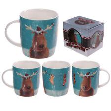 Bone China Reindeer Mug
