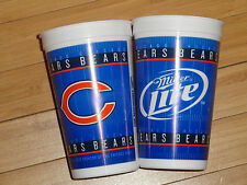 75 Chicago Bears Tailgating 16 oz Hard Plastic Reusable Cups Miller Lite Beer