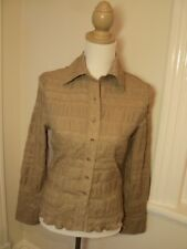 laura ashley tan  shirt  embroidered style   10  nwt  $149