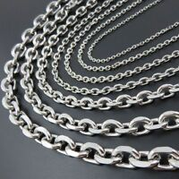 5/10Meter Wholesale Finding Silver Stainless Steel 2/3/4/5mm Rolo Chain In Bulk