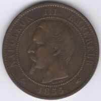 1855 A France Napoleon III 10 Centimes | European Coins | Pennies2Pounds