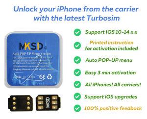 NEW 2021! MKSD4 IOS 14. R-sim Heicard Turbo unlock chip sim card ICCID iPhone