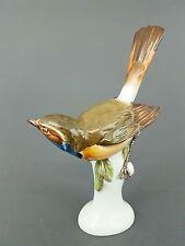 Meissen Vogel Figur, Blaukehlchen Mod.-Nr.: 7727,1 Höhe 15,5 cm, 1.Wahl, Oehme