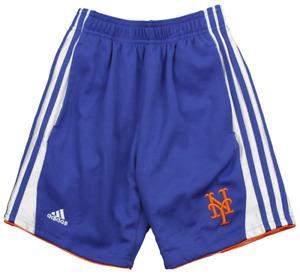 Adidas MLB Youth Boys New York Mets Sox 3-Stripe Shorts, Blue