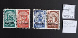 Deutsches Reich Nr. 508-511 Falz