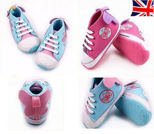 Newborn Baby Girl Boys infant shoes Butterfly Crib Pram Shoes pink pump shoes UK