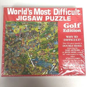 Worlds Most Difficult Jigsaw Puzzle 529 Piece Golf Edition Buffalo Games 2 Sided