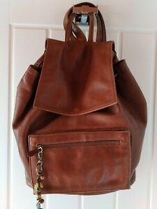 Hidesign ( Radley ) Designer 100% Leather Rucksack Handbag Bag Brown Backpack