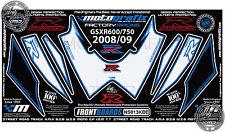 Suzuki GSXR 600 750 2008 Front Fairing Number Board Motografix 3D Gel Protector
