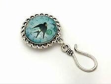 Handmade Magnetic Portuguese Knitting Pin- ID Badge Holder- Barn Swallow