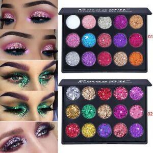 15 Colors Waterproof Glitter Eyeshadow Eye Shadow Pallete Lasting Makeup Kit Set