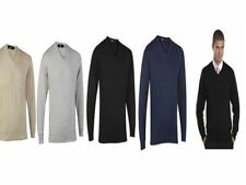 Cotton V Neck Long Jumpers & Cardigans for Men