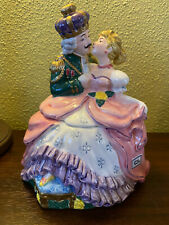 Hand Painted, Cinderella and Prince, Fitz and Floyd Candy/Cookie Jar