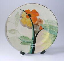 More details for original gray's pottery art deco hand painted dinner plate, flower design.